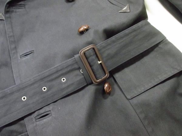 エルメス コート 50 メンズ 美品 黒×ダークブラウン HERMES 5