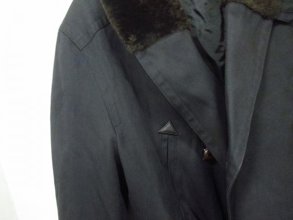 エルメス コート 50 メンズ 美品 黒×ダークブラウン HERMES 7