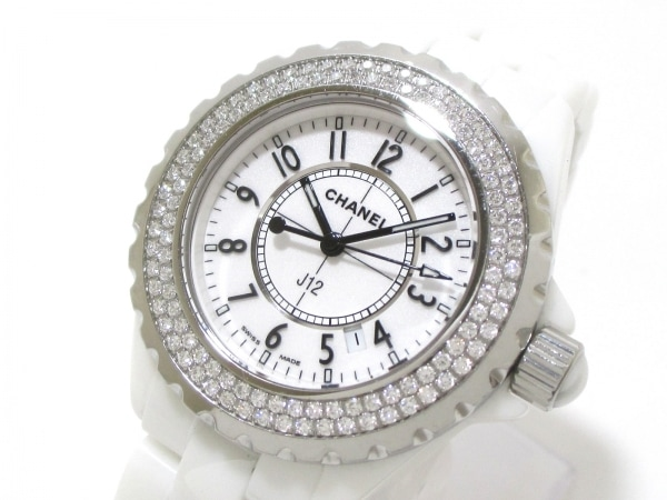 CHANEL(シャネル) 腕時計 美品 J12 H0967 レディース 白 0