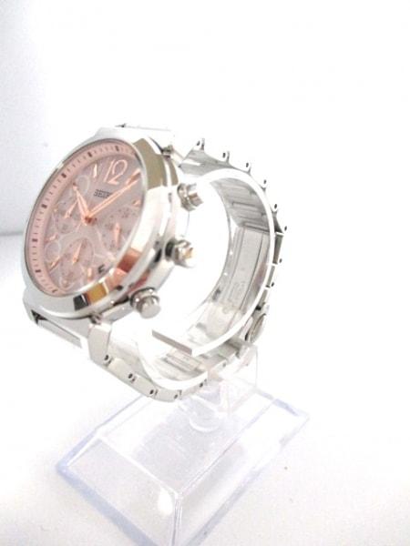 セイコー 腕時計 美品 V175-0AJ0 レディース クロノグラフ/ラメ 2