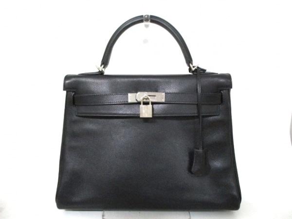 エルメス ハンドバッグ ケリー32 黒 シルバー金具/内縫い HERMES 0
