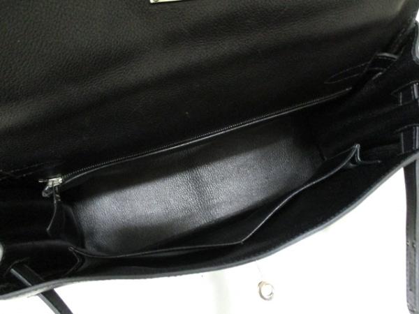 エルメス ハンドバッグ ケリー32 黒 シルバー金具/内縫い HERMES 2