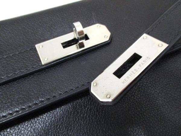 エルメス ハンドバッグ ケリー32 黒 シルバー金具/内縫い HERMES 3
