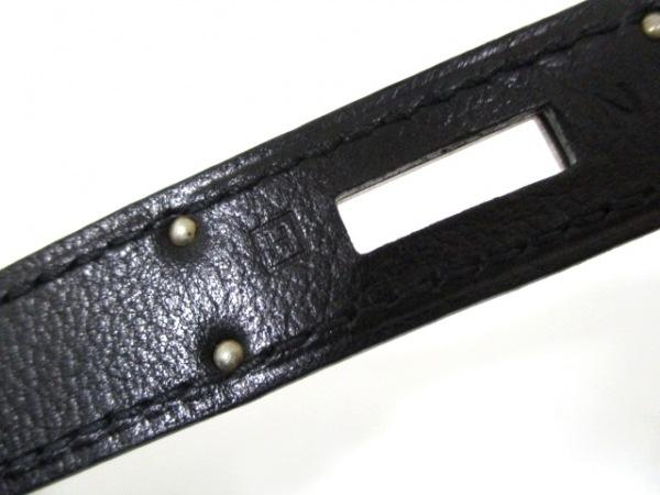 エルメス ハンドバッグ ケリー32 黒 シルバー金具/内縫い HERMES 4