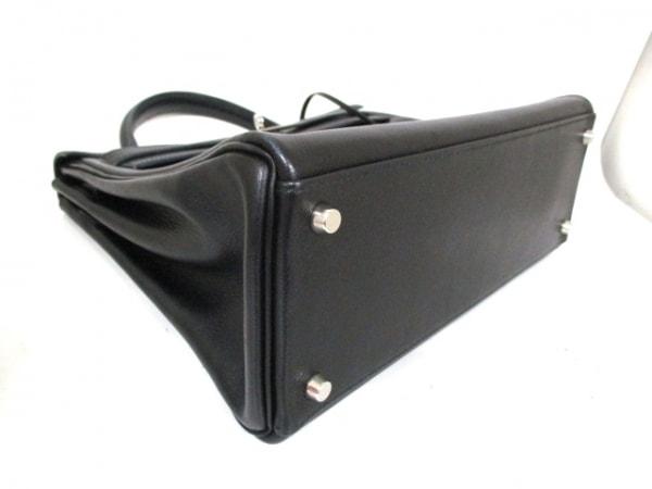 エルメス ハンドバッグ ケリー32 黒 シルバー金具/内縫い HERMES 8