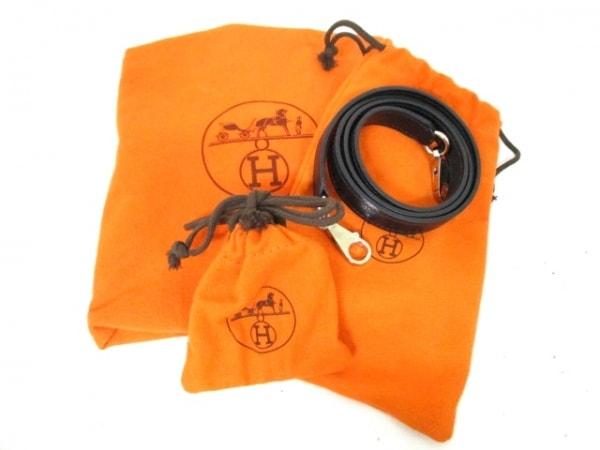 エルメス ハンドバッグ ケリー32 黒 シルバー金具/内縫い HERMES 9