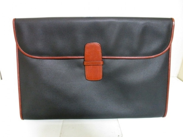 ボッテガヴェネタ セカンドバッグ 美品 - - 黒×ブラウン 0