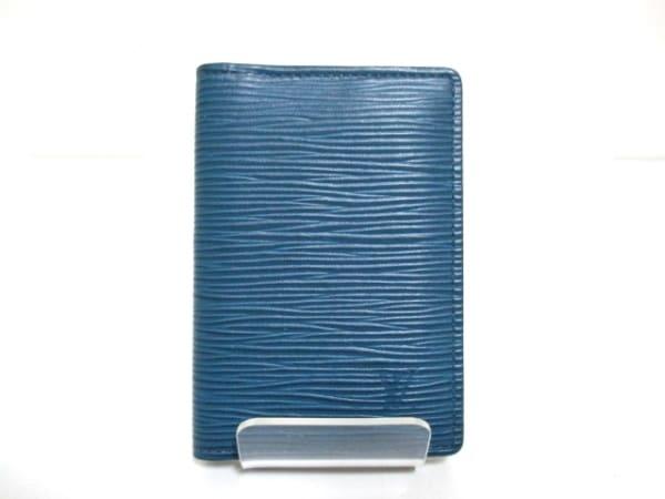 ルイヴィトン カードケース エピ 美品 M61821 ブルーマリーヌ 0