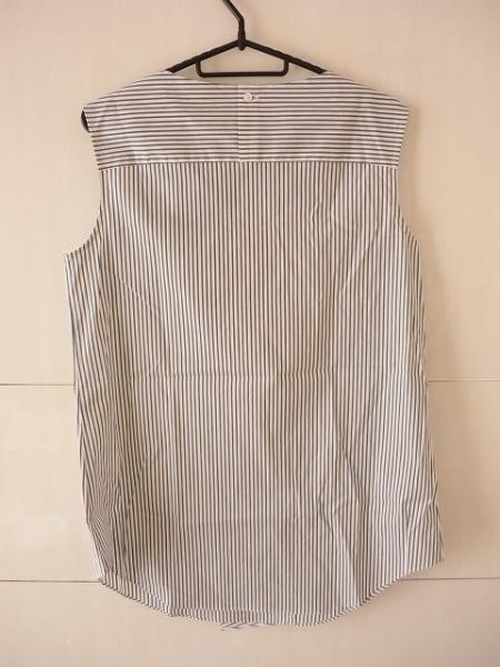 エムフィル チュニック 38 レディース 美品 白×ネイビー M・Fil 2