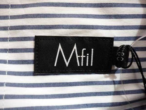 エムフィル チュニック 38 レディース 美品 白×ネイビー M・Fil 3