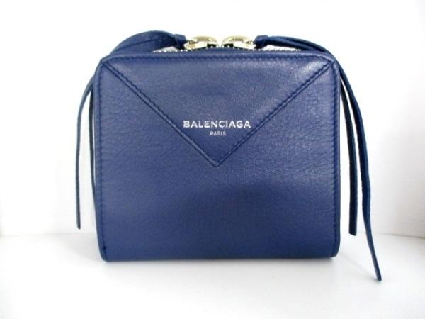 バレンシアガ 2つ折り財布 美品 ペーパービルフォールド 371662 0