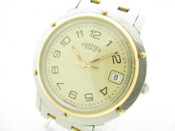 HERMES(エルメス) 腕時計 クリッパー CL6.720 メンズ アイボリー 0