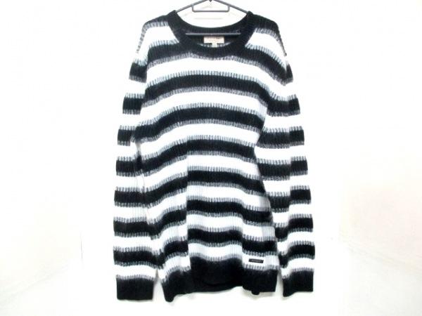 バーバリー 長袖セーター XXXL メンズ 新品同様 4023579 黒×白 0