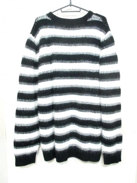 バーバリー 長袖セーター XXXL メンズ 新品同様 4023579 黒×白 2
