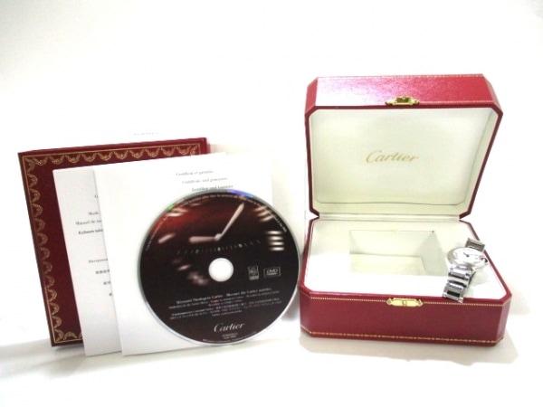 カルティエ 腕時計 バロンブルーSM W69010Z4 レディース SS 9
