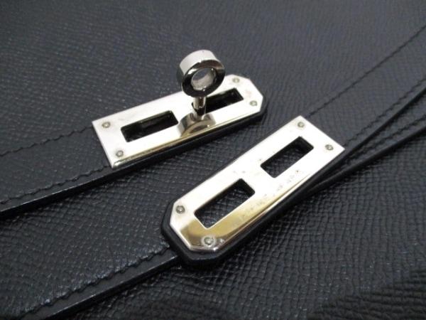 エルメス ビジネスバッグ ケリーデペッシュ34 黒 シルバー金具 3