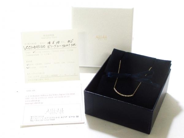 アーカー ネックレス 美品 ビリーブユー K18YG×ダイヤモンド 9