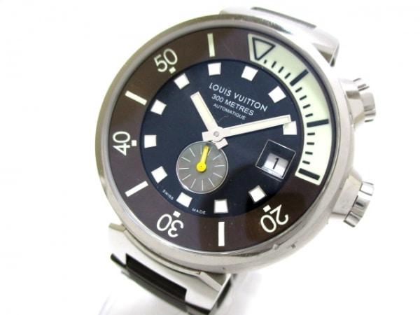ヴィトン 腕時計 タンブール ダイビング Q1031 メンズ 黒 0
