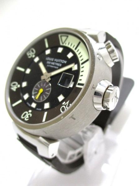 ヴィトン 腕時計 タンブール ダイビング Q1031 メンズ 黒 2