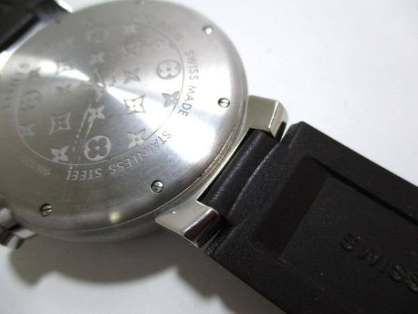 ヴィトン 腕時計 タンブール ダイビング Q1031 メンズ 黒 8