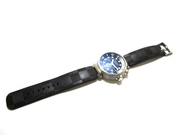ヴィトン 腕時計 タンブール ダイビング Q1031 メンズ 黒 9