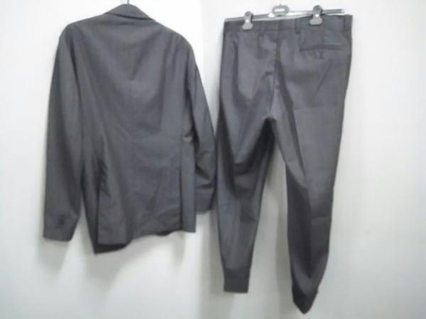 スティレラティーノ シングルスーツ メンズ 美品 黒×ブラウン 2