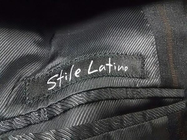 スティレラティーノ シングルスーツ メンズ 美品 黒×ブラウン 3