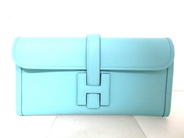 エルメス クラッチバッグ 美品 ジジェエラン ブルーアトール 0