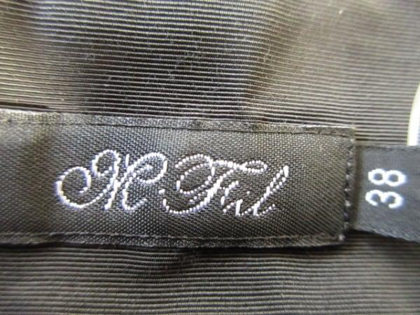 エムフィル カットソー 38 レディース 黒 一部シースルー M・Fil 3