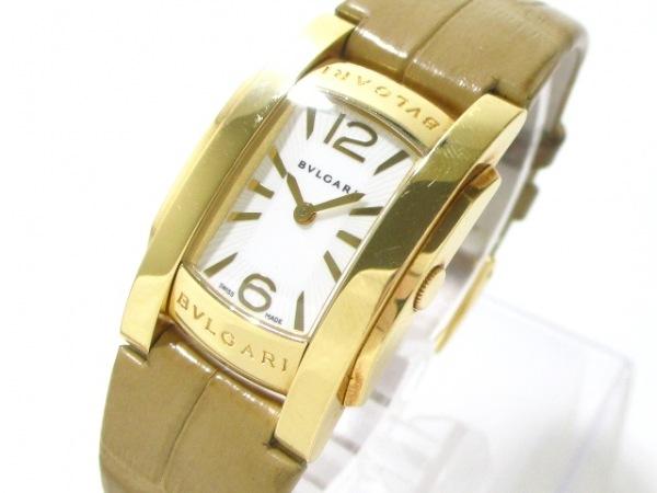 ブルガリ 腕時計 アショーマ AA31G レディース 革ベルト/K18YG 0