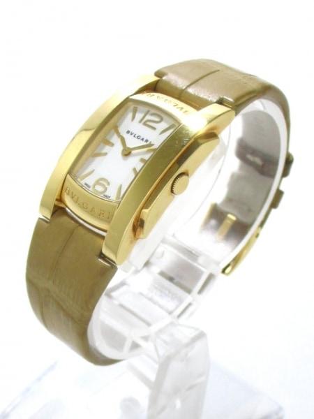 ブルガリ 腕時計 アショーマ AA31G レディース 革ベルト/K18YG 2