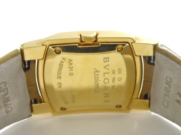 ブルガリ 腕時計 アショーマ AA31G レディース 革ベルト/K18YG 3
