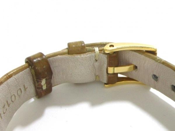 ブルガリ 腕時計 アショーマ AA31G レディース 革ベルト/K18YG 4