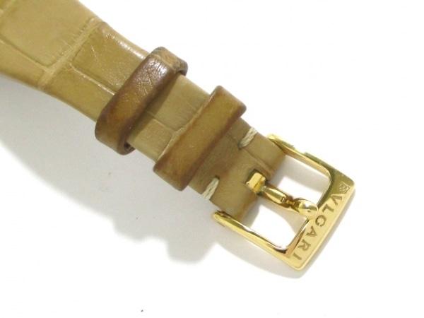 ブルガリ 腕時計 アショーマ AA31G レディース 革ベルト/K18YG 5