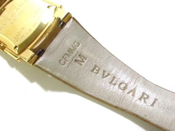 ブルガリ 腕時計 アショーマ AA31G レディース 革ベルト/K18YG 6