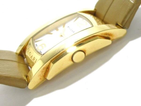 ブルガリ 腕時計 アショーマ AA31G レディース 革ベルト/K18YG 8