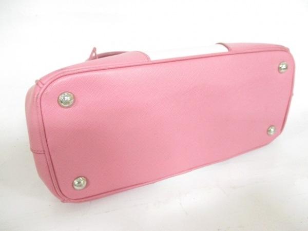 プラダ ハンドバッグ - B2863K 白×ピンク バイカラー PRADA 4