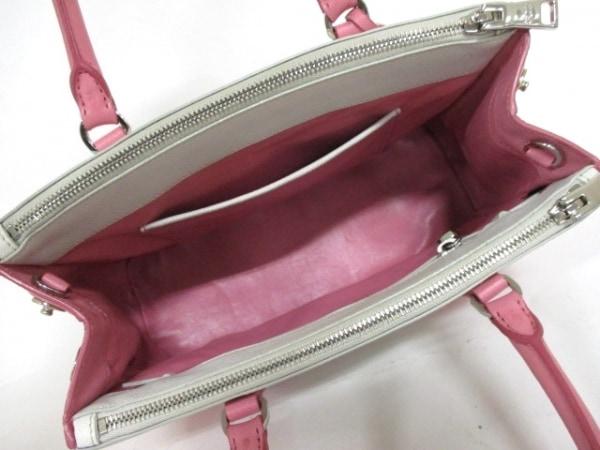 プラダ ハンドバッグ - B2863K 白×ピンク バイカラー PRADA 5
