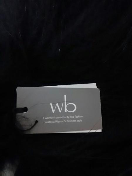 ダブリュービー ストール(ショール) 新品同様 黒 wb 2