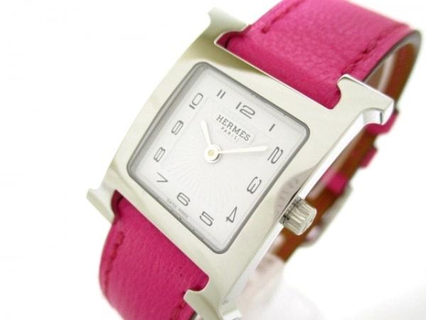 エルメス 腕時計 美品 Hウォッチ HH1.210 レディース 白 0