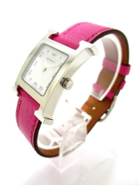 エルメス 腕時計 美品 Hウォッチ HH1.210 レディース 白 2
