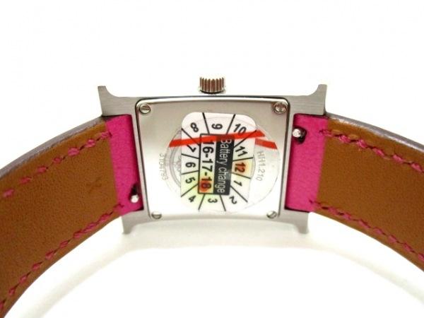 エルメス 腕時計 美品 Hウォッチ HH1.210 レディース 白 3
