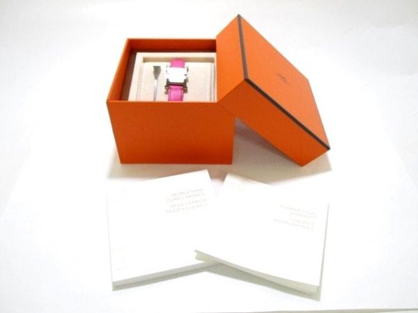 エルメス 腕時計 美品 Hウォッチ HH1.210 レディース 白 9