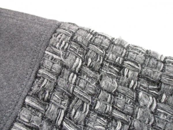 シャネル コート 34 レディース ダークグレー×黒×ライトグレー 5