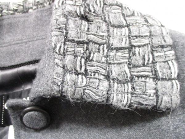 シャネル コート 34 レディース ダークグレー×黒×ライトグレー 8