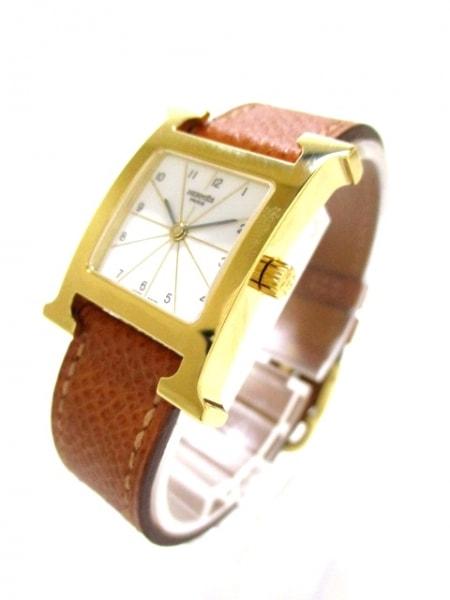 エルメス 腕時計 美品 Hウォッチ HH1.201 レディース □J 白 2