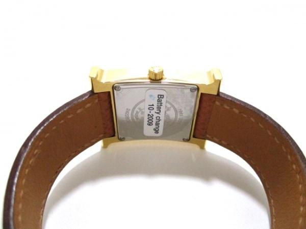 エルメス 腕時計 美品 Hウォッチ HH1.201 レディース □J 白 3