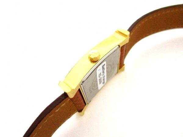 エルメス 腕時計 美品 Hウォッチ HH1.201 レディース □J 白 7