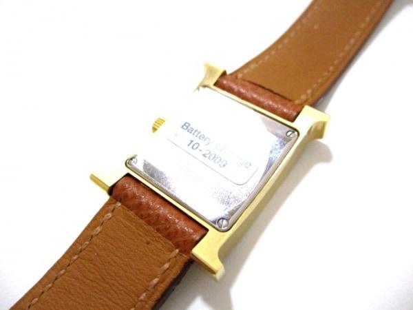 エルメス 腕時計 美品 Hウォッチ HH1.201 レディース □J 白 8