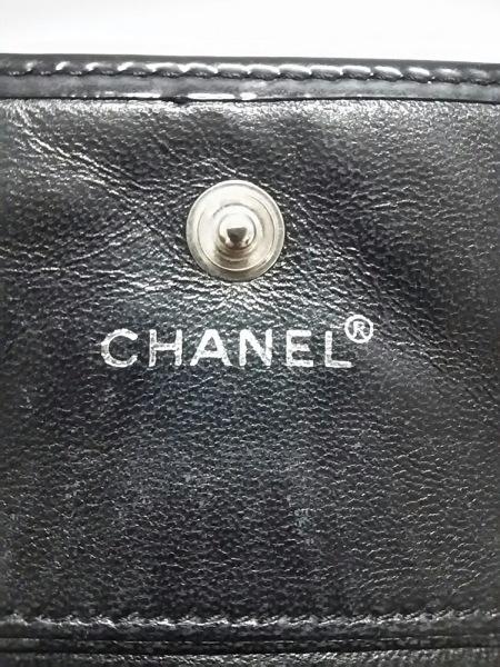 シャネル Wホック財布 - 黒 エナメル(レザー) CHANEL 5